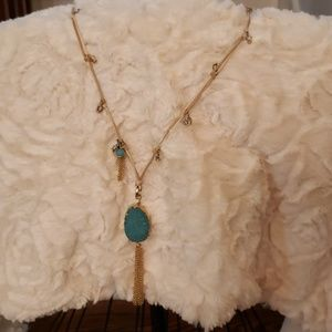 Chico's  blue stone necklace
